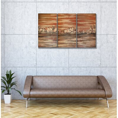 Stupell Industries The Waterfront Triptych Wall Art