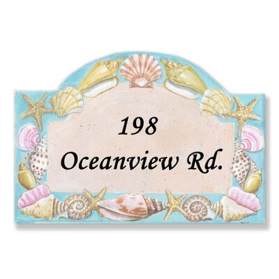 Personalized House Seashells Wall Plaque