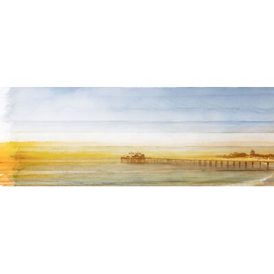 Malibu Pier Painting Print on Canvas