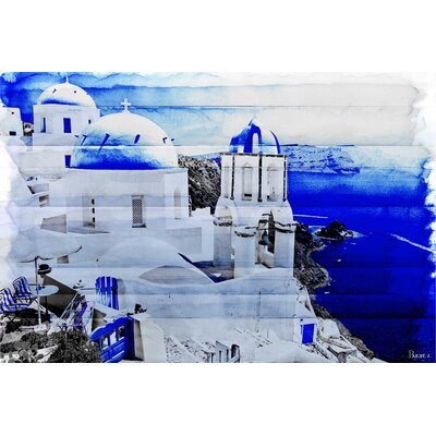 Santorini Painting Print on Canvas
