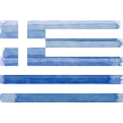 Greek Flag Painting Print on Canvas