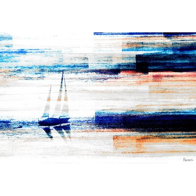 Aegean Sea Painting Print on Canvas