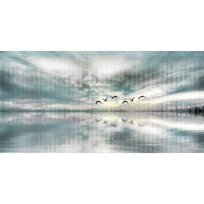 Birds Skylight Painting Print on Canvas