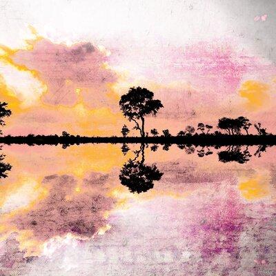 Parvez Taj Reflecting Pond Painting Print on Canvas