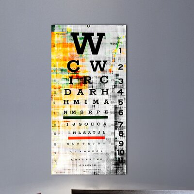 Parvez Taj Eye Chart by Parvez Taj Graphic Art on Canvas