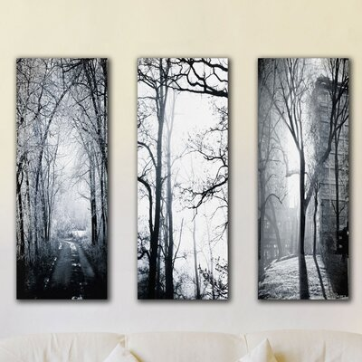 Parvez Taj Snow Emerald 3 Piece Painting Print on Canvas Set