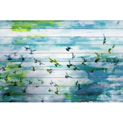Marsh Graphic Art Plaque on White Wood