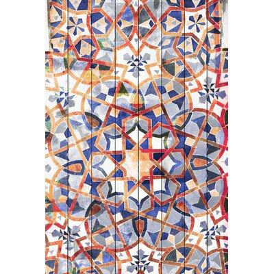 Figuig Graphic Art Plaque on White Wood