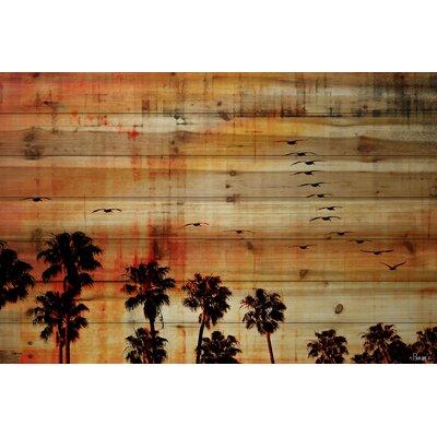 Ocean Trails Graphic Art Plaque on Natural Pine