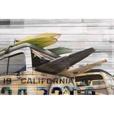 Cali Day Graphic Art Plaque on White Wood