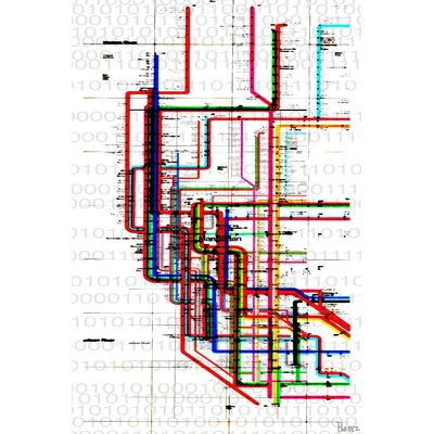 Subway by Parvez Taj Graphic Art on Canvas