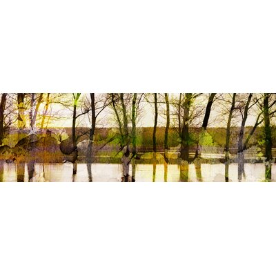 Lake Trees Graphic Art on Canvas