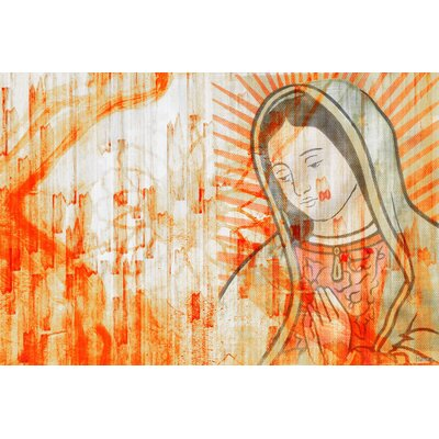 Mary Graphic Art on Canvas