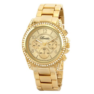 Women's Ultra Femme Ultra Femme Rhinestone Accented Gold Runway Watch