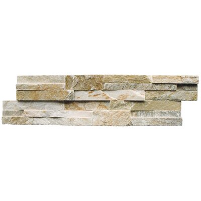 "Cabot Quartzite 6"" x 24"" Natural Ledge Stone in Golden Honey"