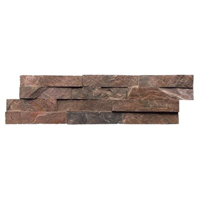 "Cabot Quartzite 6"" x 24"" Natural Ledge Stone in Copper"