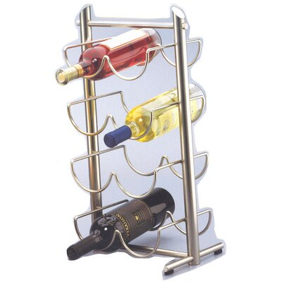 Creative Home Angles Metalware 8 Bottle Tabletop Wine Rack