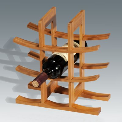 Creative Home Bamboo 9 Bottle Tabletop Wine Rack