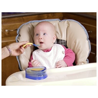 Baby Dipper Bowl, Spoon and Fork Set in Blue