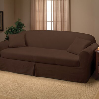 Microsuede Two Piece Sofa Slipcover