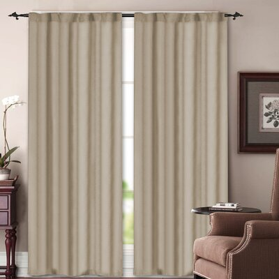 Madison Home Soho Rod Pocket Curtain Panel