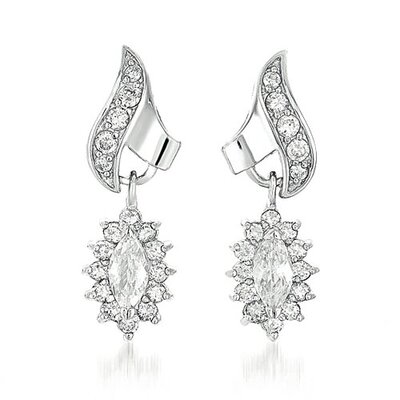 CZ Collections R/P Chandelier Earrings