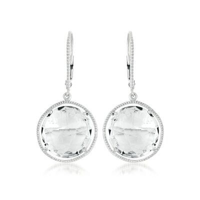 CZ Collections Rock Candy Radiant Rhodium Plated Earrings