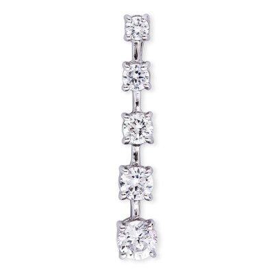 CZ Collections Round Diamond Linear Pendant