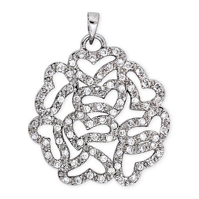 Rozzato Freeform Open Hearts Diamond Pendant
