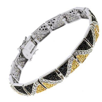 CZ Collections Zebra Cubic Zirconia Diamond Bracelet