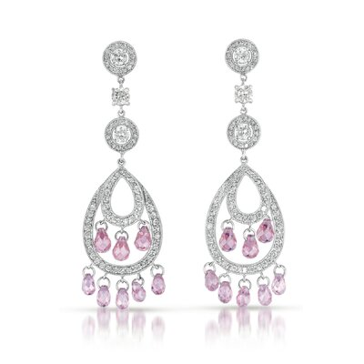 Rozzato Cubic Zirconia Chandelier Earrings