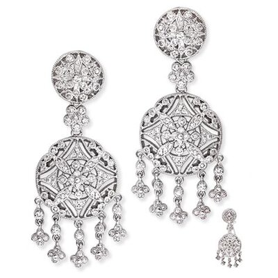 Cubic Zirconia Diamond Chandelier Earrings