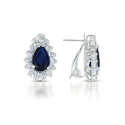 CZ Collections Pear Shape Cubic Zirconia Earrings