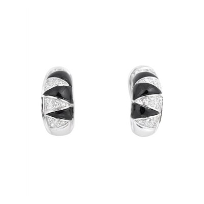 CZ Collections Cubic Zirconia and Clip/ Post Earring