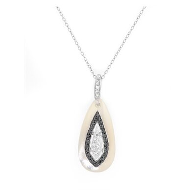Cubic Zirconia Mother Of Pearl Teardrop Pendant