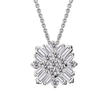 CZ Collections Square Baguette Cubic Zirconia Pendant