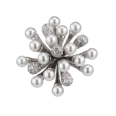 CZ Collections Starburst Cubic Zirconia Pin