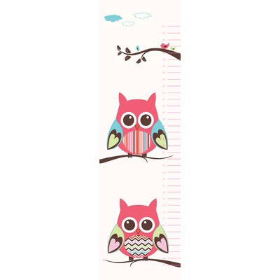 Secretly Designed Belly Owl Growth Chart Wall Decal