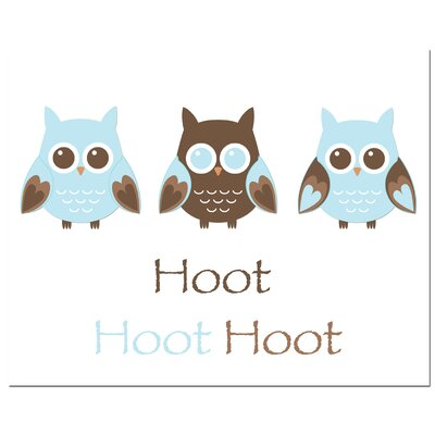 Secretly Designed Owl Trio-Hoot Art Print
