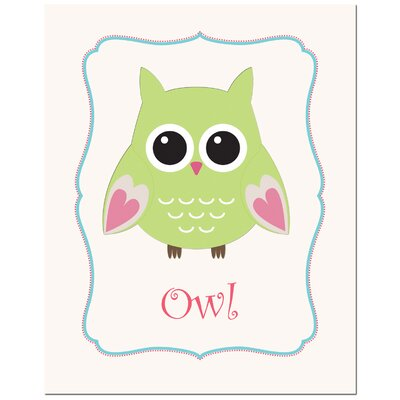 Secretly Designed Solid Color Owl in Frame Canvas Art