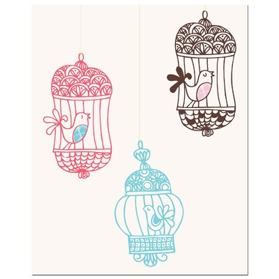 Secretly Designed Three Bird Cages Canvas Art