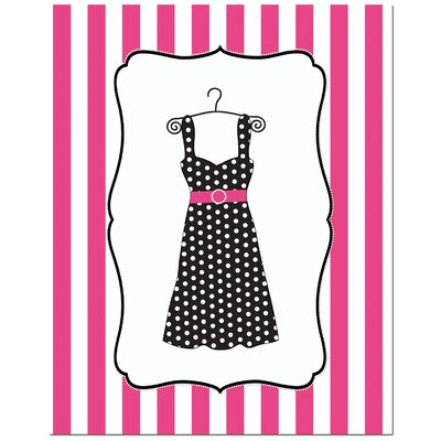 Secretly Designed Fashion Dress Art Print