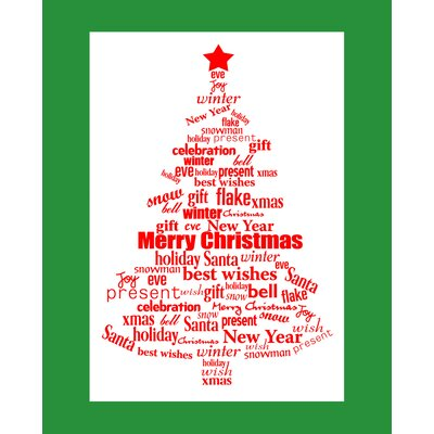 Secretly Designed Word Christmas Art Print