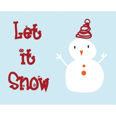 Secretly Designed Let it snow! Art Print