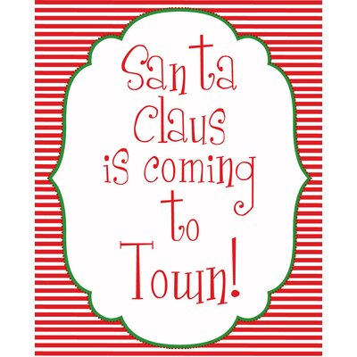 Secretly Designed Santa Coming to Town Art Print