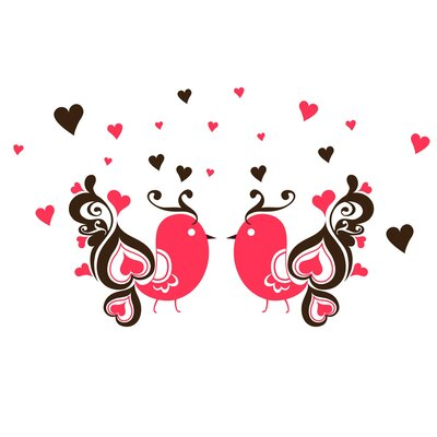 Love Birds Wall Art Print