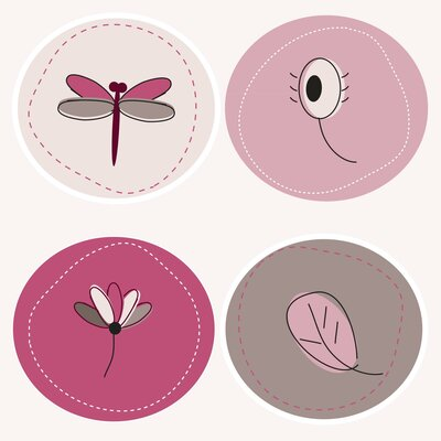 Secretly Designed Dragonflies Paper Print