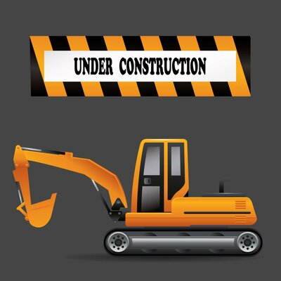 Secretly Designed Under construction Wall Art Print