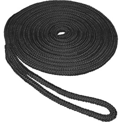 "Unified Marine 0.5"" x 15' Double Braid Nylon Dockline in Black"