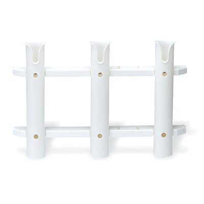 Unified Marine Three Rack Tube Rod Holder in White